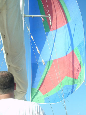 light wind sailing with the spinnaker